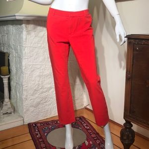 L.L. Bean Cropped Straight Leg Relaxed Trousers